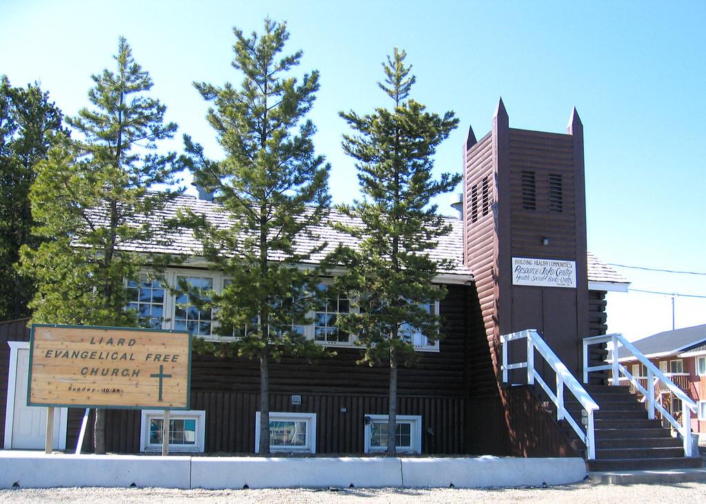 Old church in Watson Lake, YT
