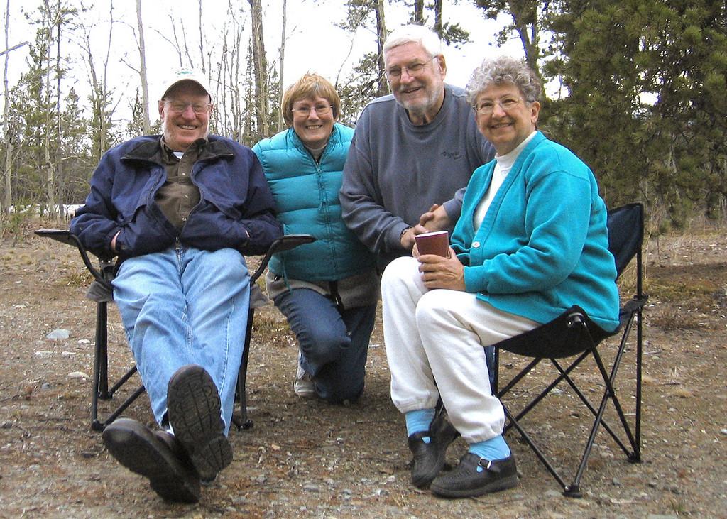 5/16/06 - Bob, Susan Mike and Mary; Bob and Mary are the people we met at the Nisutlin Bridge overlook outside Teslin.