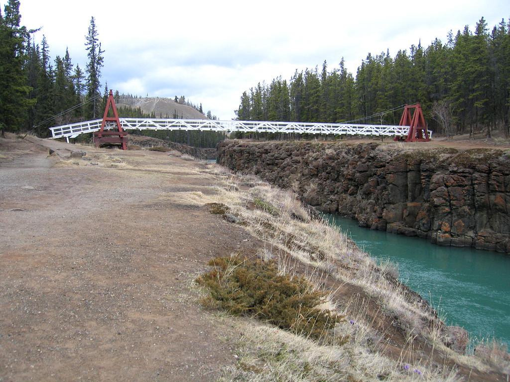 5/17/06 - Foot bridge across the Yukon River down in Miles Canyon