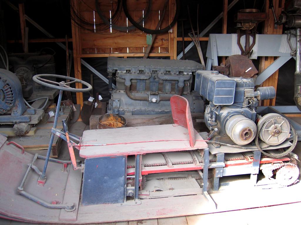 5/18/06 - McBride Museum; Eliason Motor Toboggan build in 1953