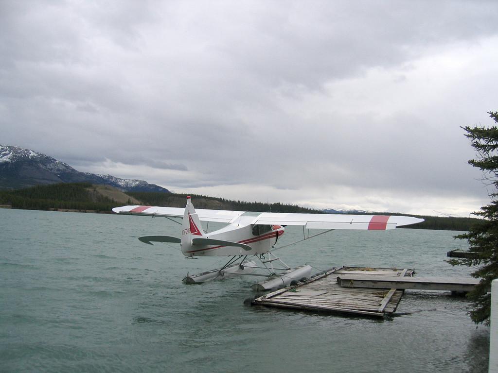 5/17/06 - Float plane on Schwatka Lake