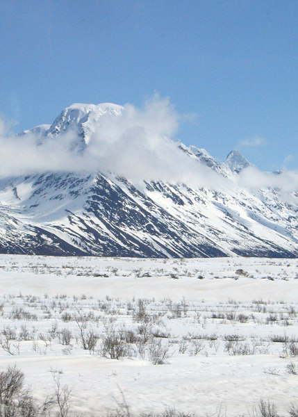 Mountaing about 75 miles west of Haines Junction