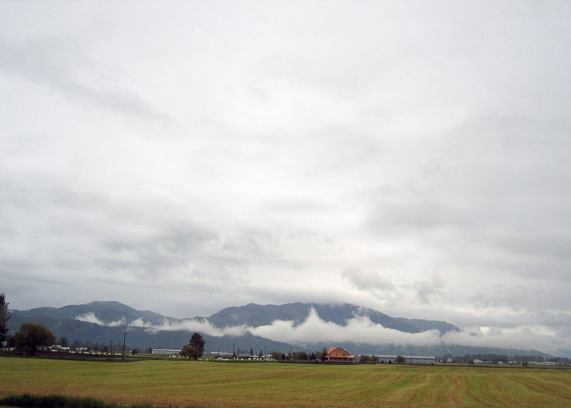 Abbotsford, BC is the first city as we pass into Canada