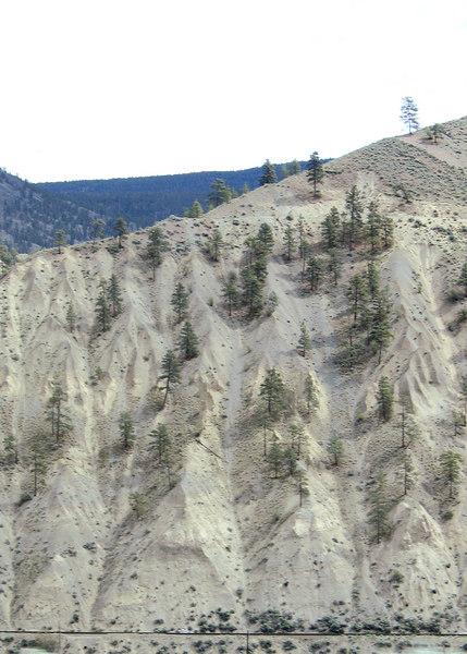 Interesting hills north of Speners Bridge, BC