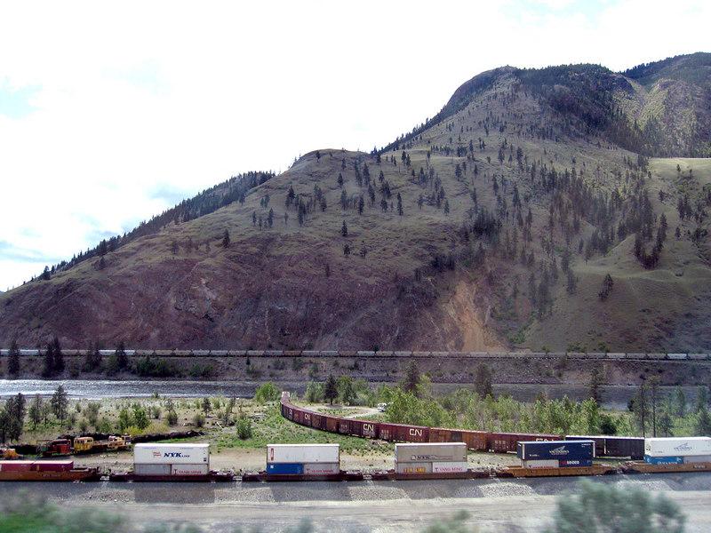 Trains outside of Spensers Bridge, BC