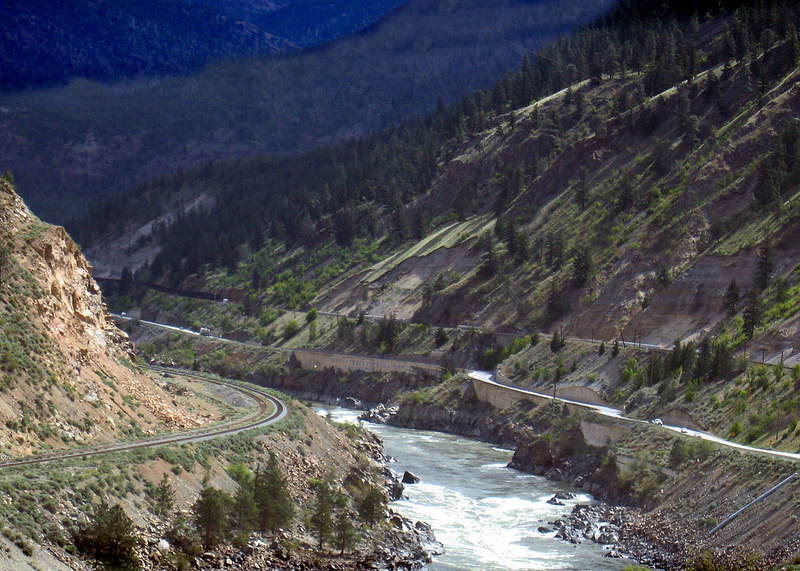 Fraser River about 35 miles south of Cache Creek, BC