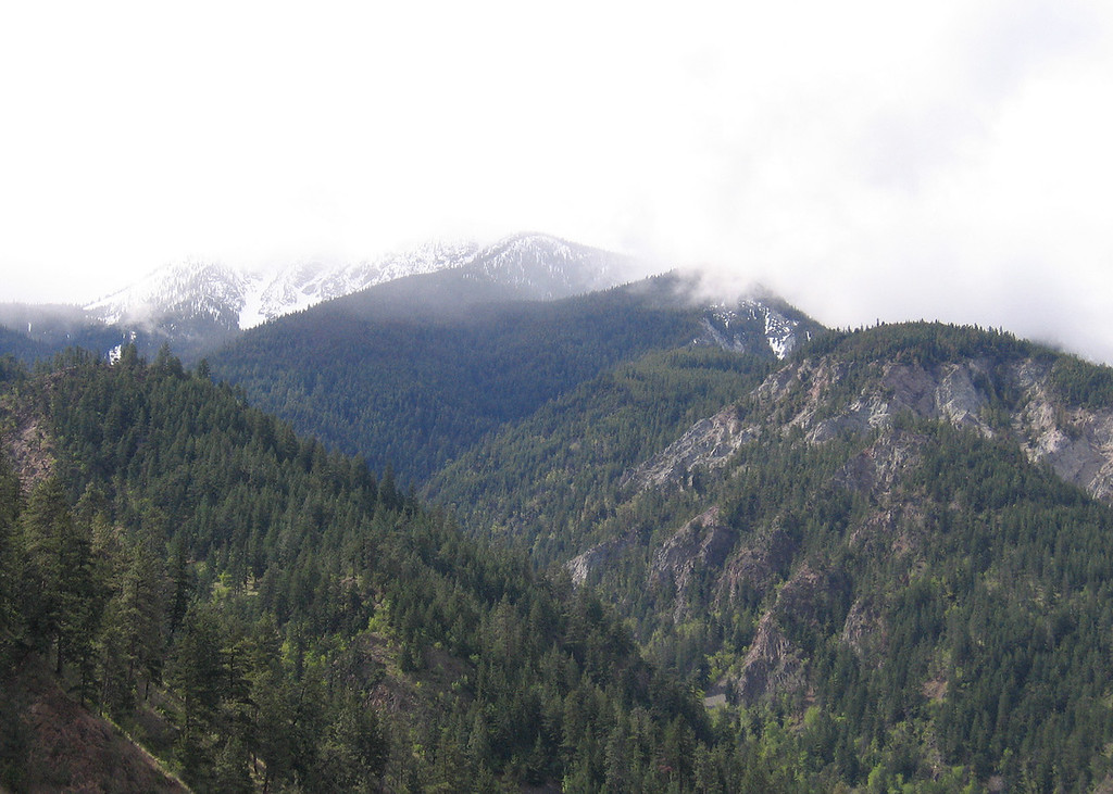 Mountains about 50 miles south of Cache Creek, BC