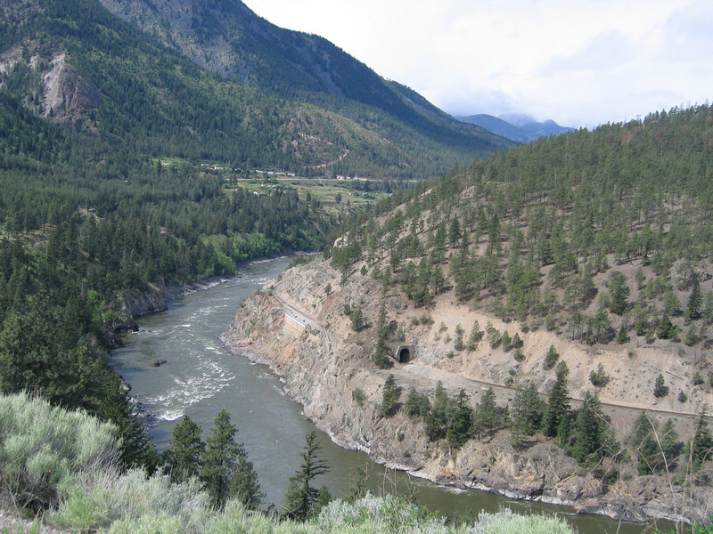 Fraser River about 50 miles south of Cache Creek, BC