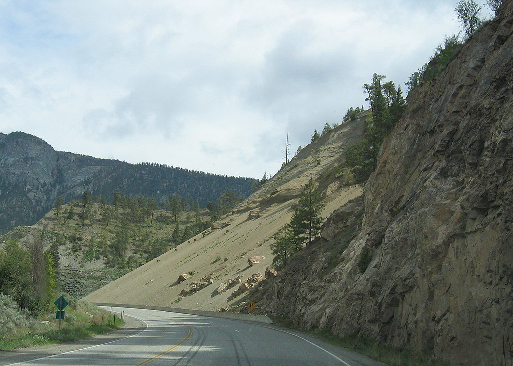 About 55 miles south of Cache Creek, BC