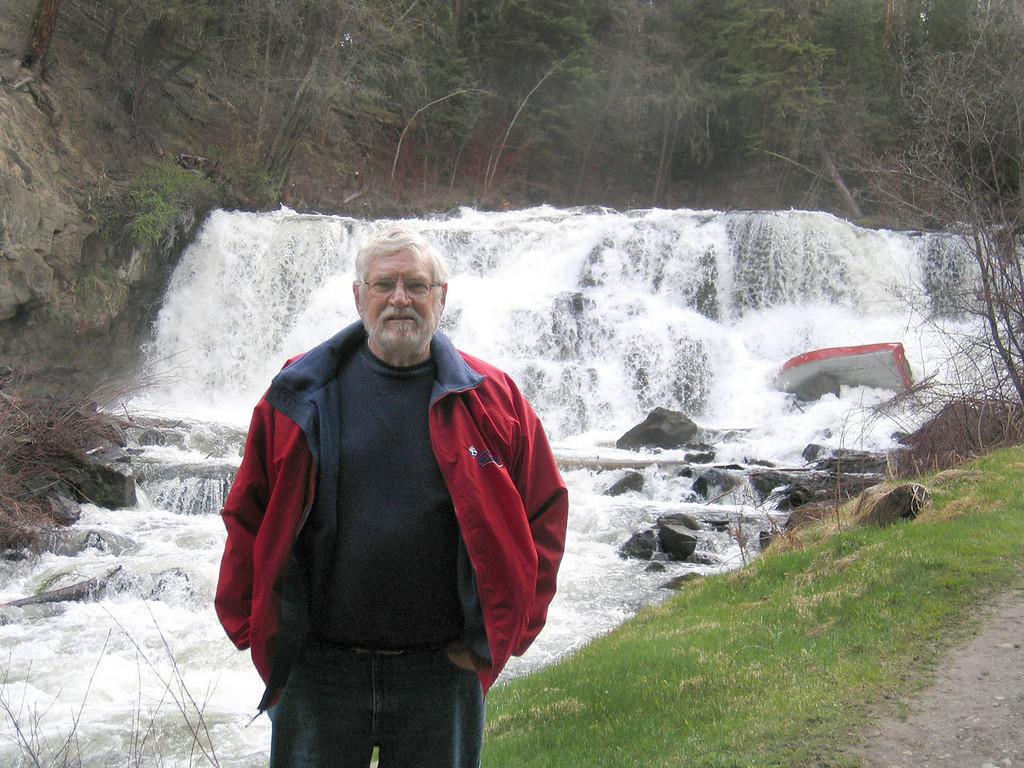 Mike at Bridge Creek Falls in 100 Mile House, BC