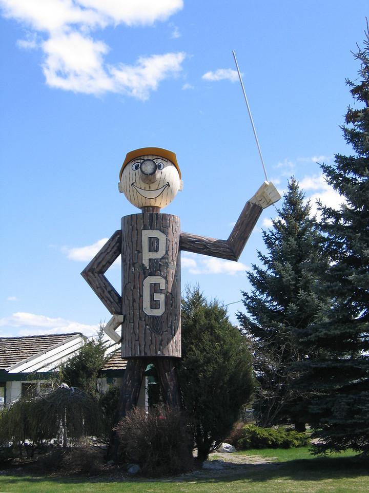 Prince George figure in Prince George, BC
