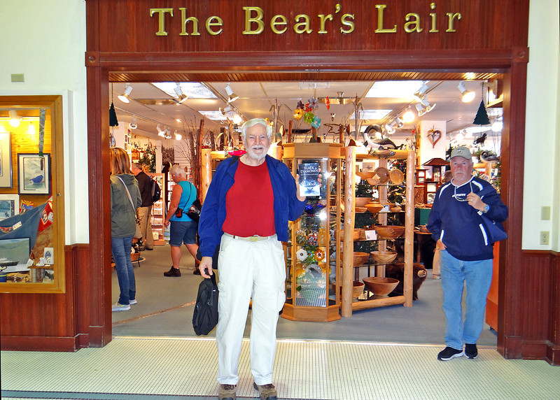 The Bear's Lair had a prominent place in Mike's book, Black Diamonds.  We went in to meet the owner and give them a book.  Unfortunately the owner wasn't there so we left a book at the store.