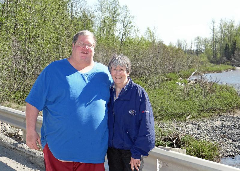 Son, David with Susan along the Anchor River