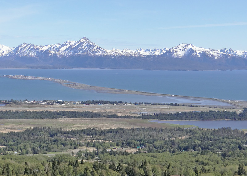 The Homer Spit juts out into Kechemak Bay