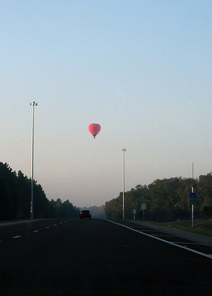 A balloon we saw hovering over the highway on way to Tampa