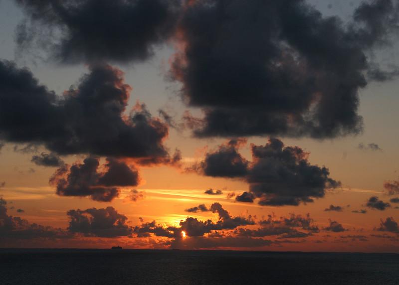 Beautiful sunrise on Belize