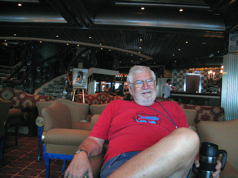 Mike relaxing in one of the lounges