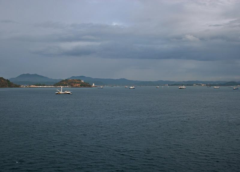 Arriving at Puerta Amador, Panama