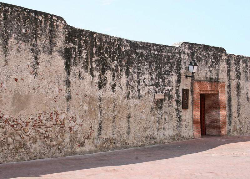 The wall around Old Town Cartegena - Las Murallas are fort walls that were built by the Spaniards.  The thick stone walls dating back to the 16th century encircle the old city.