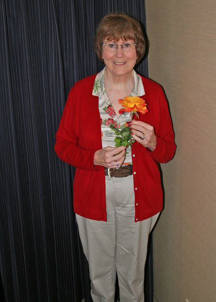 Susan with rose Trish gave her