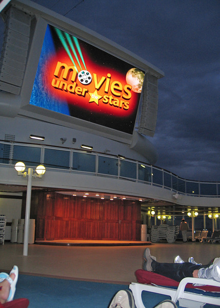 "They had ""Movies Under the Stars"".  I watch a movie the first night and it was kind of neat."