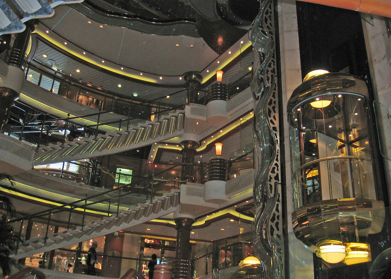 Elevator in lobby