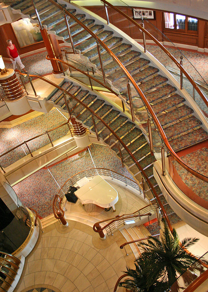 Stairs to the lobby