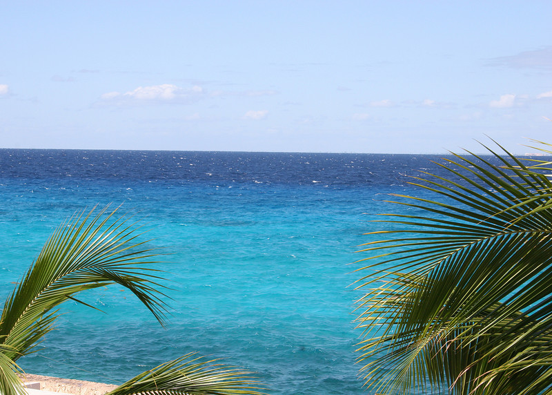 12/14/10 - The ocean was gorgeous.  Look at the turquoise close in and the deeper blue further out. Cozumel. Mexico