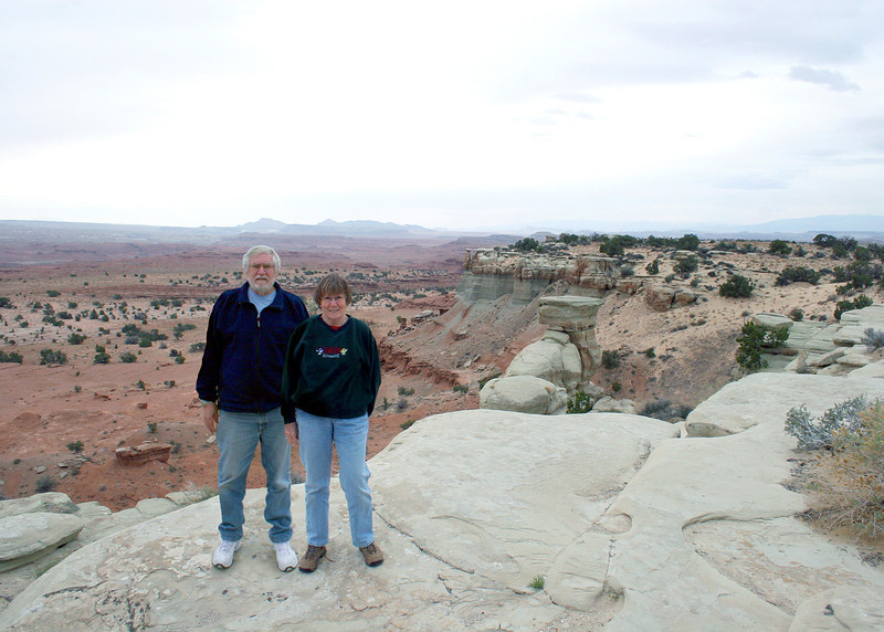 Mike and Susan at Castle Valley, UT along US 70 before you get into Colorado.