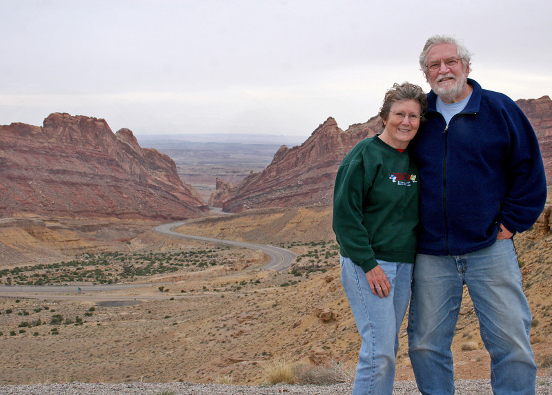 Mike and Susan Spotted Wolf Canyon, UT along US 70 before you get into Colorado.