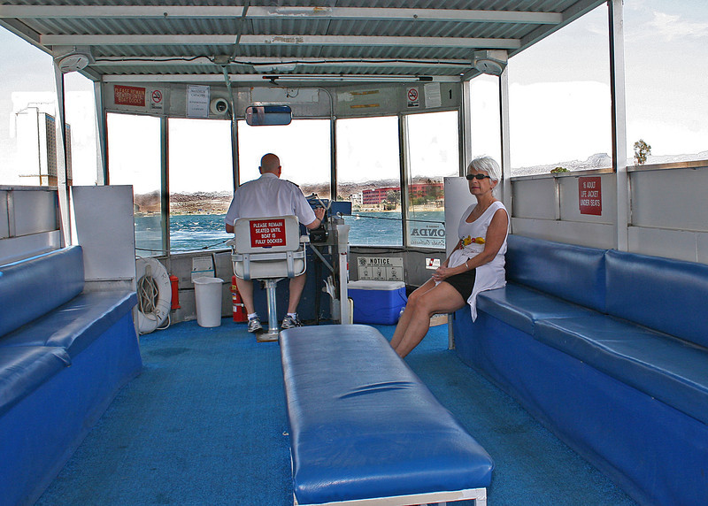 Maryl Metheany on river boat on Colorado River, Laughlin, NV