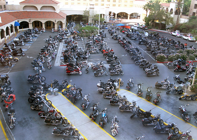 The River Run, an annual motorcycle event, had 70,000 motorcycle enthusiasts.  When we headed off for Laughlin we had no idea we were going to be sharing the weekend with so many and were lucky to find a hotel room.