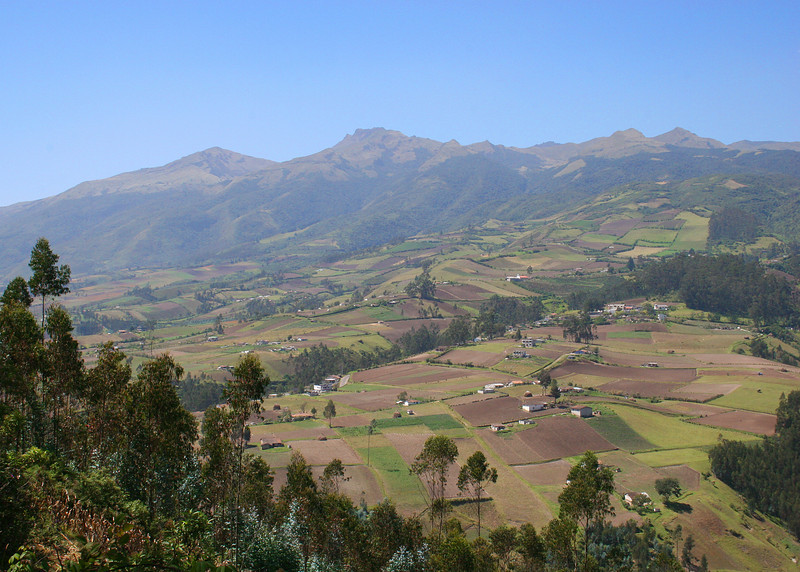This is the countryside around Otavalo.