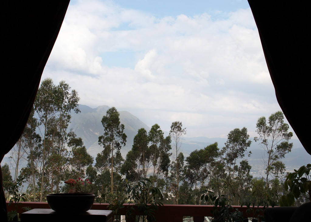 The view out the front window of the volcano Imbubura.