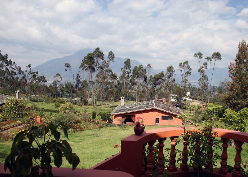 View from our front porch towards the volcano Imbabura.