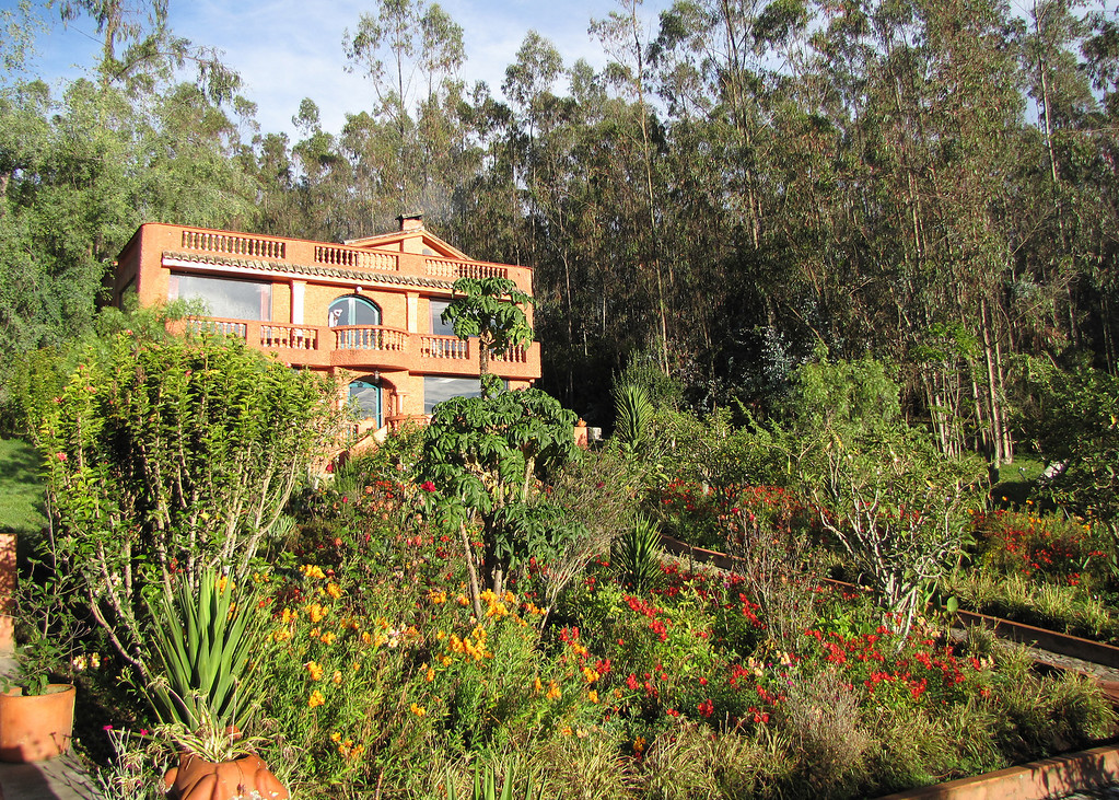 This is a picture of the main house where we have our meals.  The gardens are all so beautiful around the property.