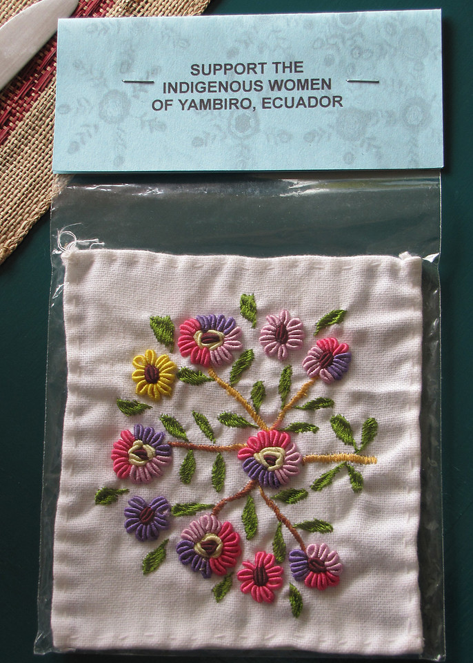 This is an embroidery sample by one of the indigenous women of Yambiro.