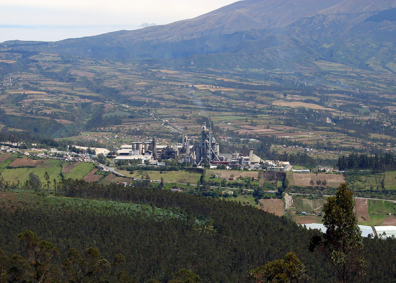 Cement factory in the valley.