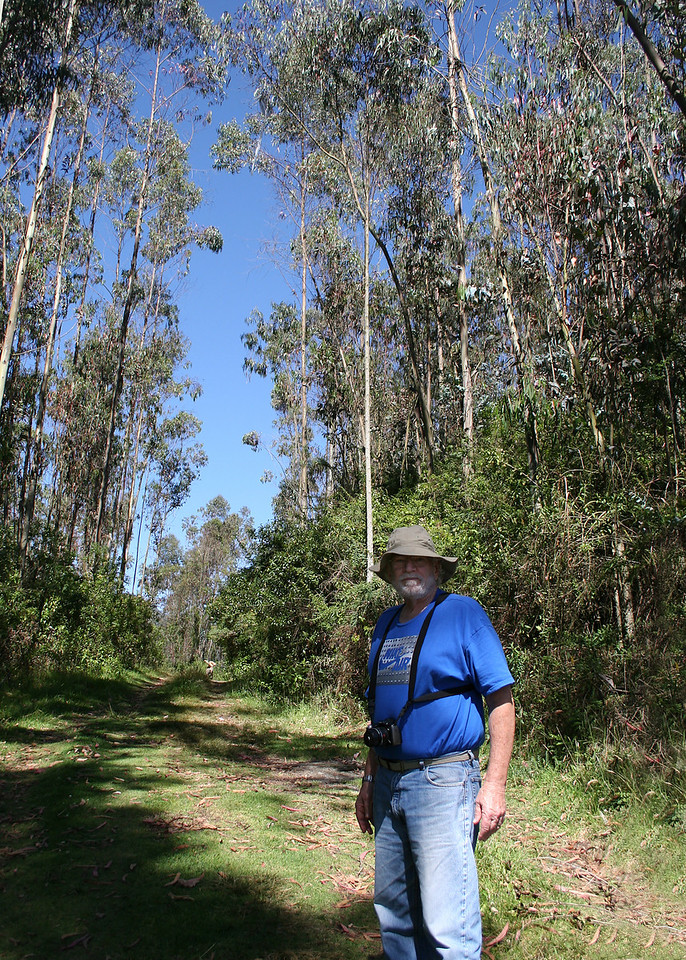 Mike at the start of our walk around the 40 acres at the Ali Shungu Mountaintop Resort.