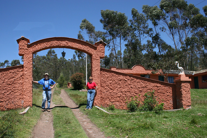 Mike and Susan at the entrance to the Ali Shungu Mountaintop Resort.  We are almost back to the start of our walk.
