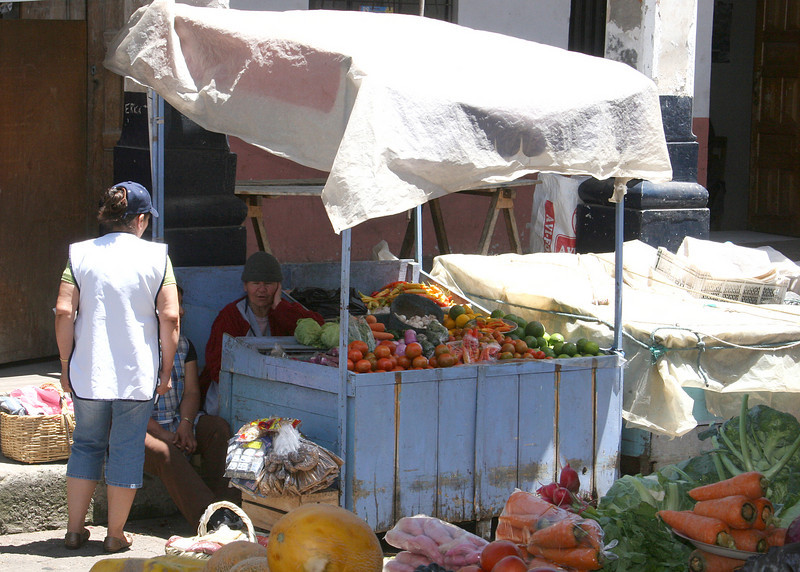 One of the little stands within the market place.