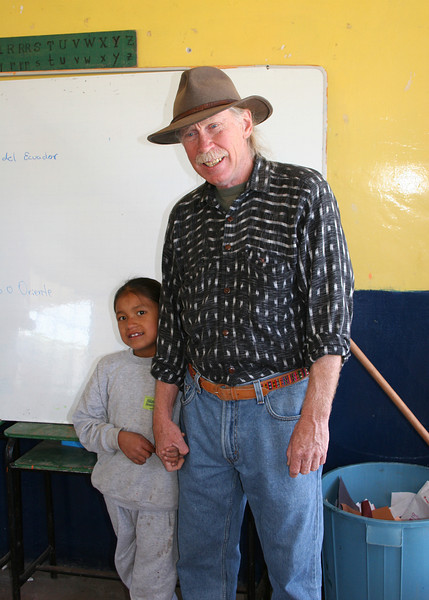 Frank co-owner of the Ali Shungu Mountaintop Retreat with one of the students