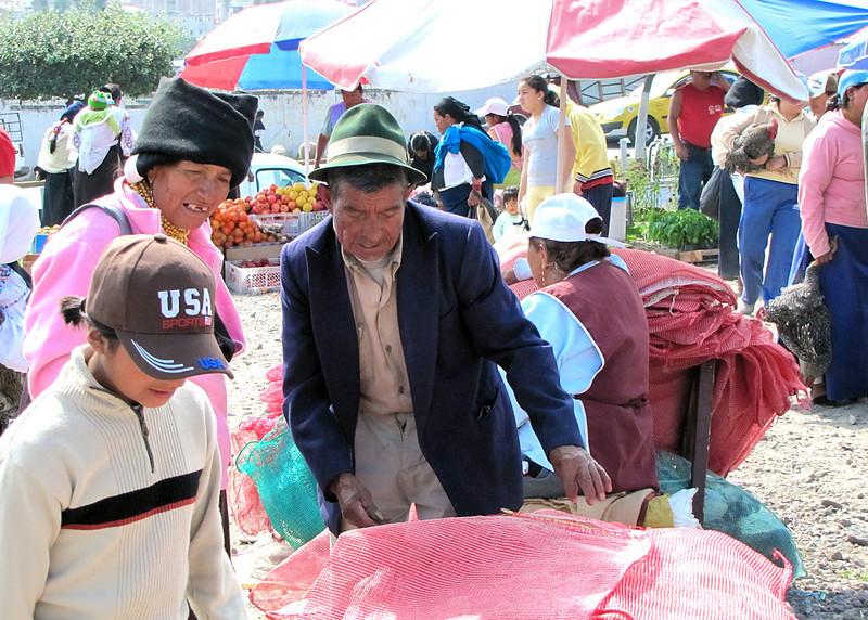 Vendor at the market