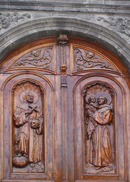 Beautiful door to Iglesia Franciscan El Jordan