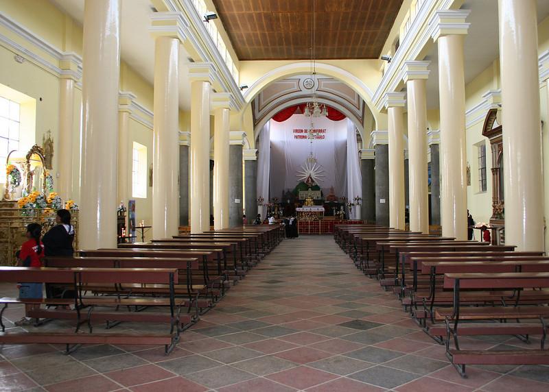 Inside Iglesia Franciscan El Jordan