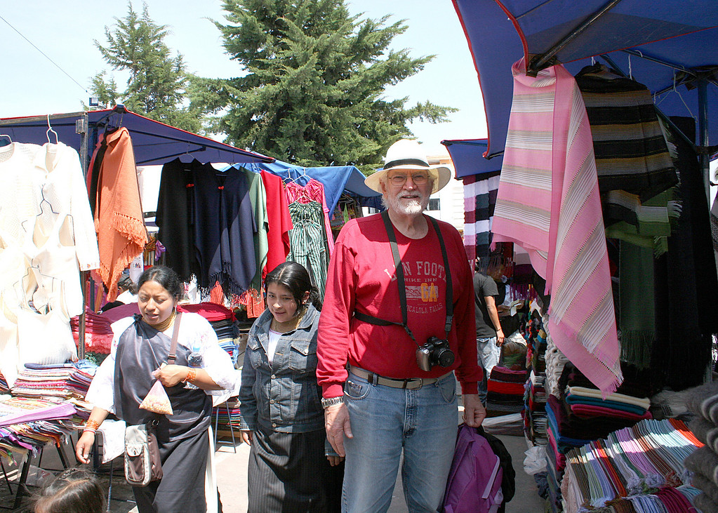 Mike at the Saturday Market with his Panama Hat