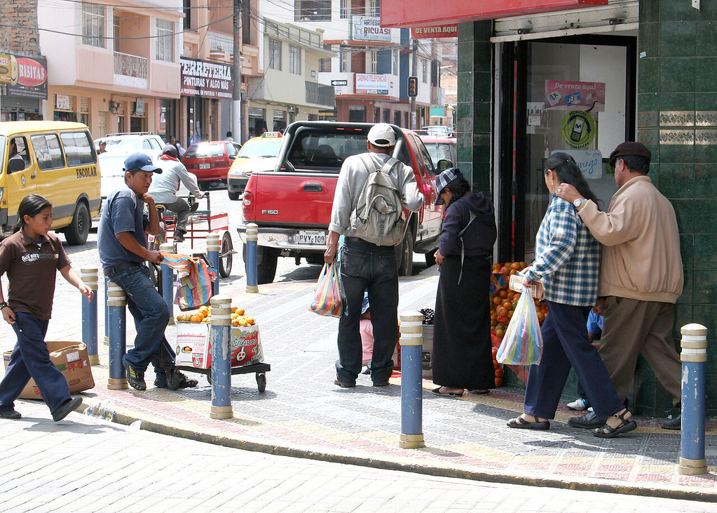 Street corner in Otavalo