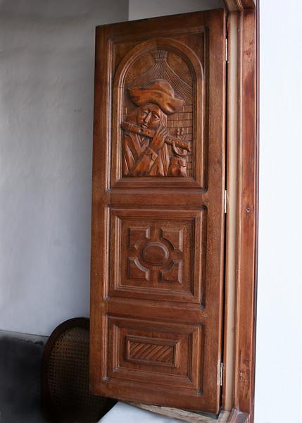 Beautiful hand carved window shutters