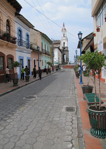 One of the side streets leading to the church and plaza