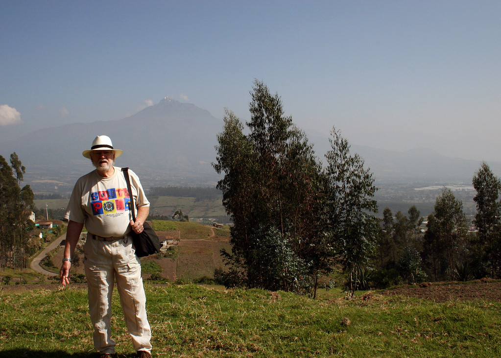 Mike with the volcano Cotacachi behind him.